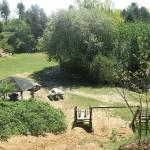 Freizeitanlage, Grillplatz, Spielgeräte, Teich