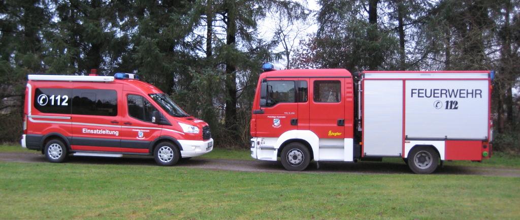 Einsatzleitwagen 1 und Mehrzwecklöschfahrzeug