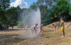 Wasserspiele bei der FFW Wallsbüll