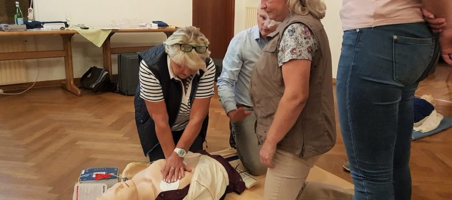 Einweisung Defibrillator